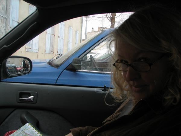 Sylvia met bril