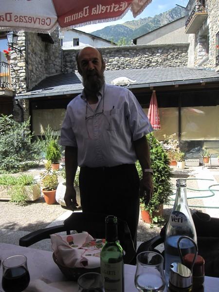 De baas van het restaurant