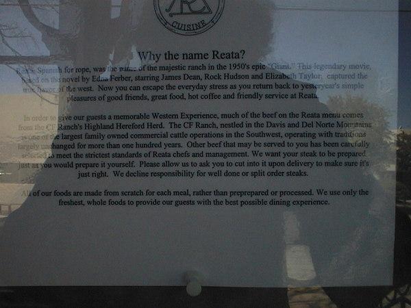 Uitleg over de naam van een restaurant
