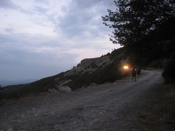 Lichten rijden naar beneden
