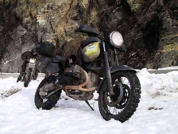 De R3B in de sneeuw