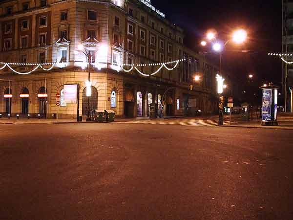 Een leeg plein