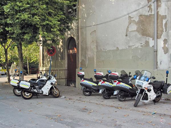 Politiemotoren en scooters