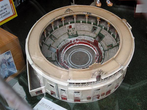 De arena van bovenaf gezien