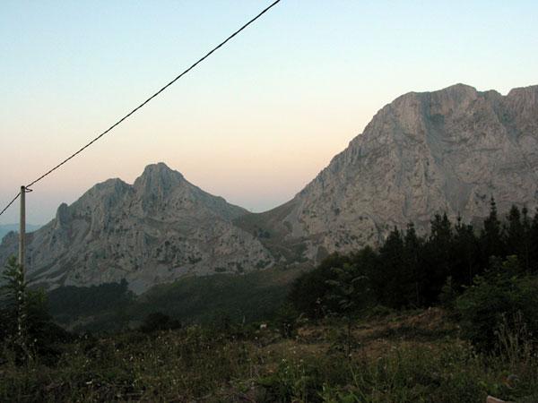 Witte bergwand