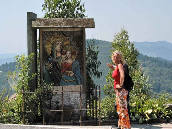 Mozaiek van Matia met kindje jezus