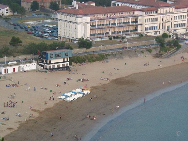 Het strand van boven
