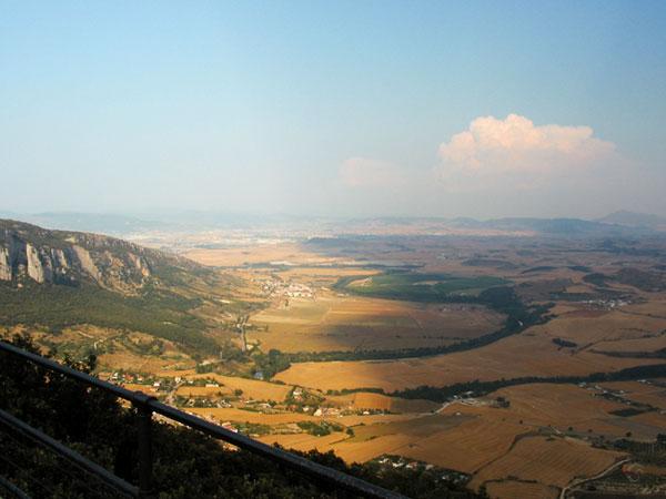 Uitzicht over gouden lappendeken