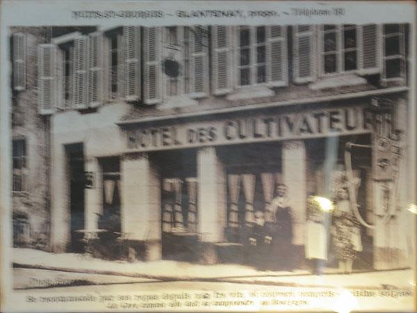 Oude foto van Hotel des Cultivateurs