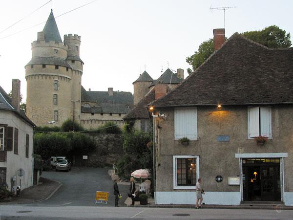 Castle in village