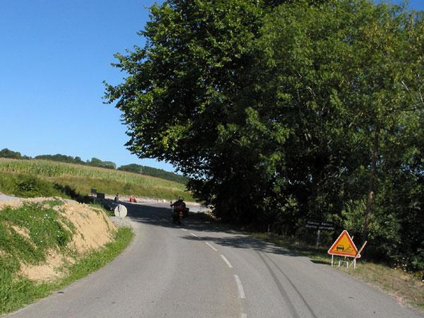 Waarschuwingsbord voor werk aan de weg