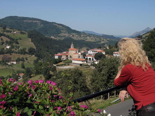 Sylvia bewondert uitzicht