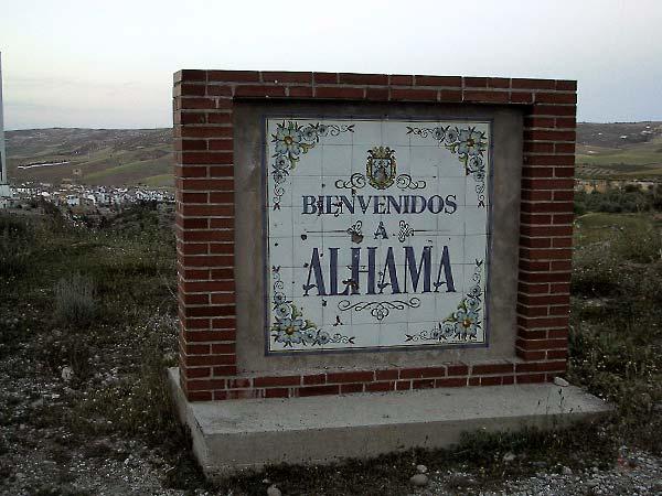 Tegeltableau met Bienvenidos a Alhama