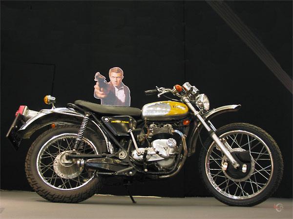 Steve McQueen met z'n motor