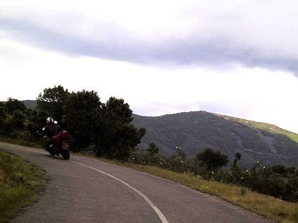 Dry hills, curvy roads