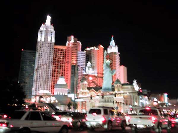 Manhattan in neon
